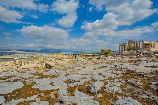 Terrain, Rocks, Stones, Acropolis, Greece, View, City