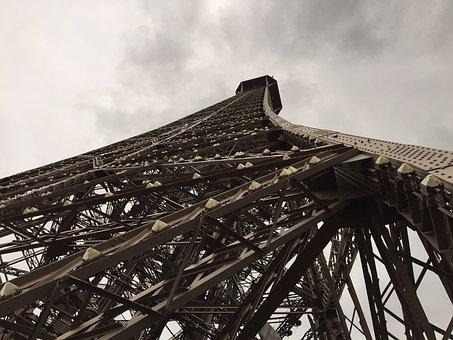 Paris, Eiffel Tower, Steel, Cloud, France, Architecture