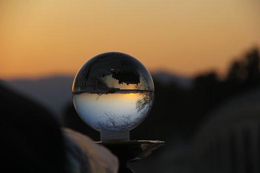 Sunset, Crystal Ball, At Dusk