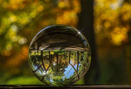 Glass Ball, Ball, Glass, Crystal Ball, Globe Image