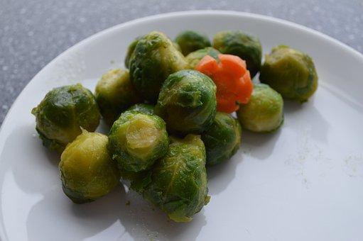 Brussels Sprout, Lunch, Vegetarian, Vegetables, Food
