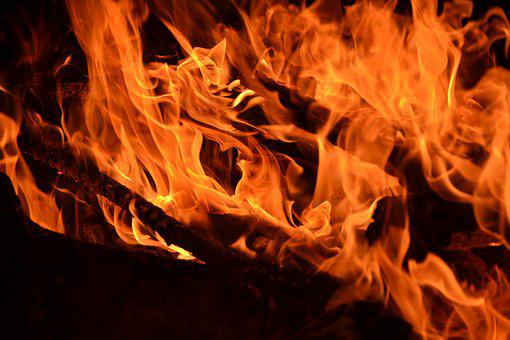 Flame, Fire, Embers, Flame Log Fire, Campfire, Hot