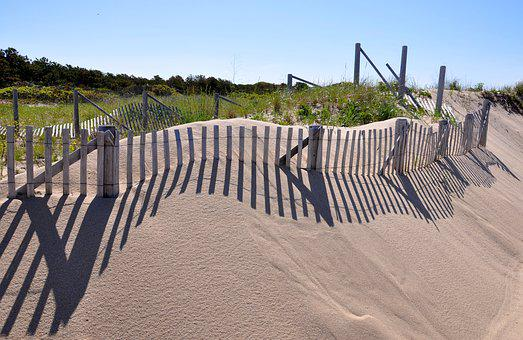 Cape Cod, Provincetown, Dune Grass, Shadows