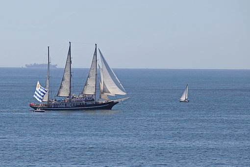 Caravelas, Boat, Ship, Mar, Blue, Water, Vessel, Browse