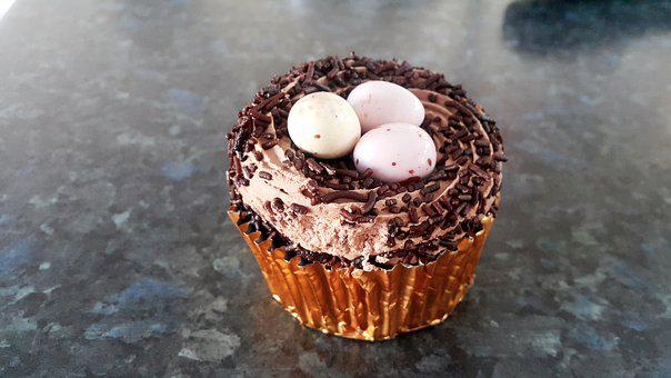 Cupcake, Egg, Easter, Sweet, Dessert, Chocolate, Treat