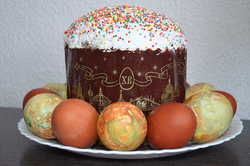 Easter, Easter Cake, Christ Is Risen, Eggs, Holiday