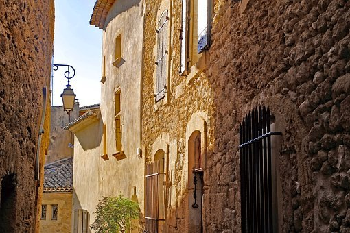 France, Provence, Street, Alley, Old, Stone
