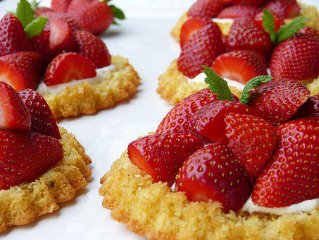 Strawberry Shortcake, Strawberries, Dough, Frisch