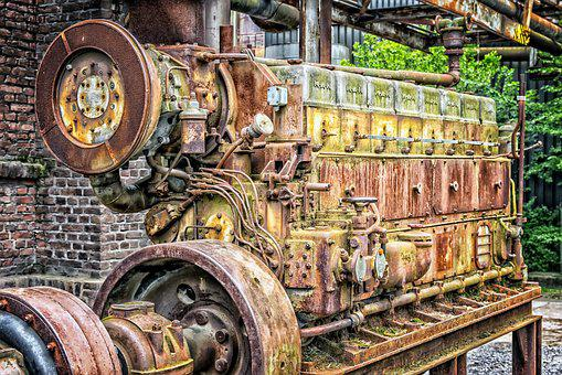 Motor, One, Machine, Technology, Industry, Old, Drive