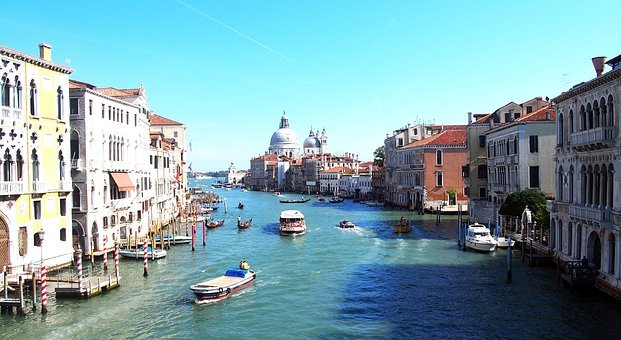 Italy, Venice, Channel, Water, City, Sky