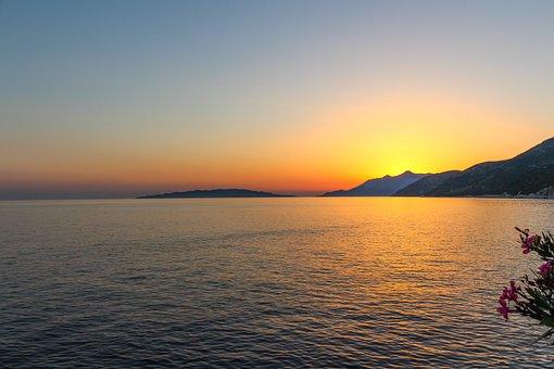 Late Sunset, Dalmatia, Croatia, Sunset Background, Sea
