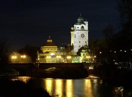 Mueller Sches Volksbad, Munich, Isar, Carl Hocheder