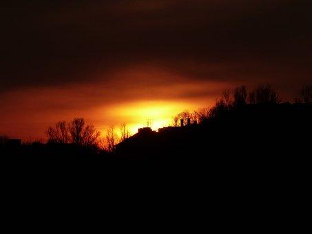 Sunset, Home, Night, Abendstimmung, Afterglow, Sun