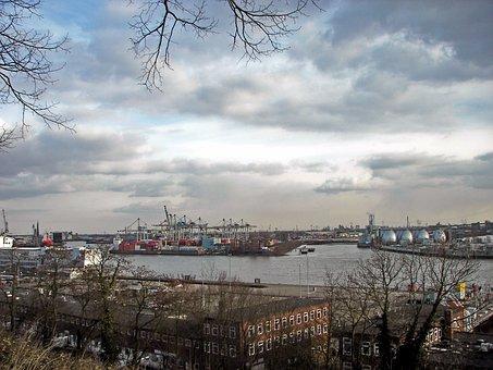 Hamburg, Port, Outlook, Altona, Balcony, Eurokai
