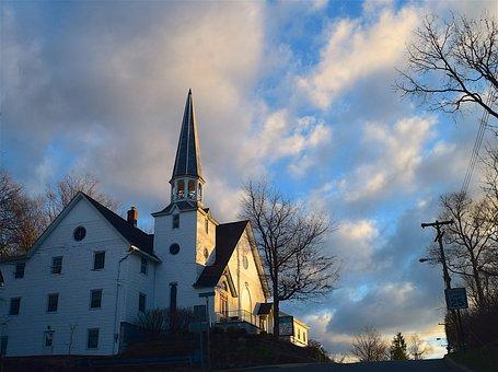 Church, Sunrise, Light, Sky, Architecture, Building