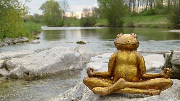 Water, River, In The Free, Frog, Ceramic, Smile