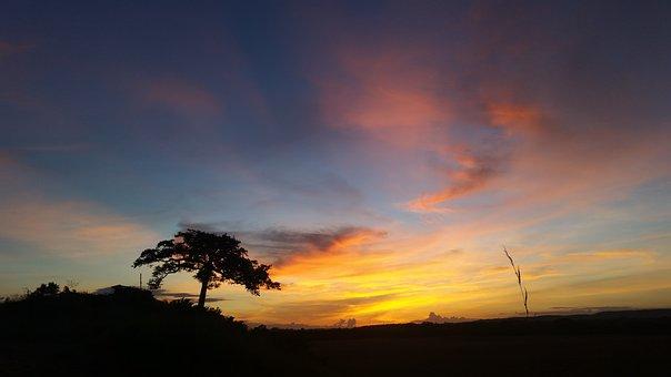 Sunset, Clouds, Colorful, Sky, Sun, Landscape, Summer