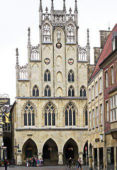 Town Hall, Münster, Westfalen, Gable, Jewelery Gable
