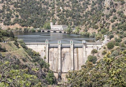 Dam, Reservoir, Water, River, Landscape, Wallpaper