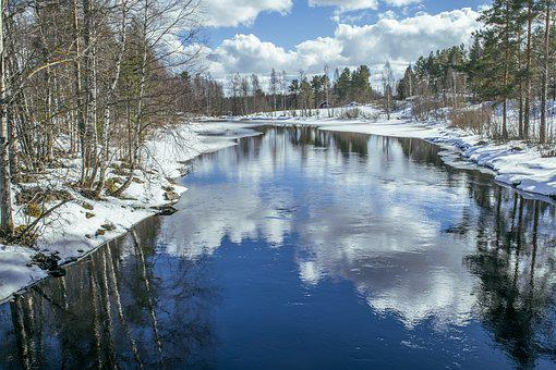 River, Sky, Reflection, Blue, Landscape, Water, Finnish