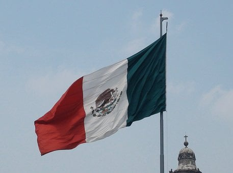 Flag, Mexico, Cathedral