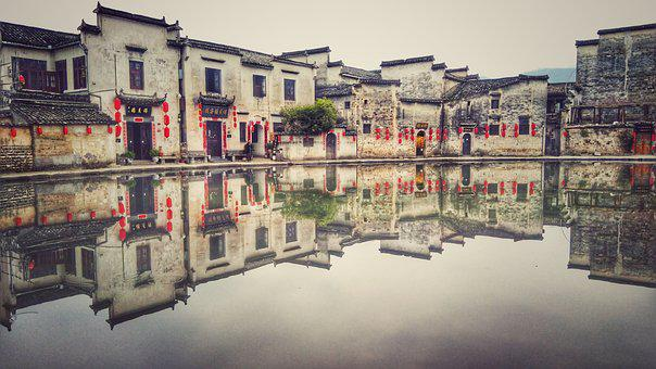 Hongcun Village, Southlake, Early In The Morning