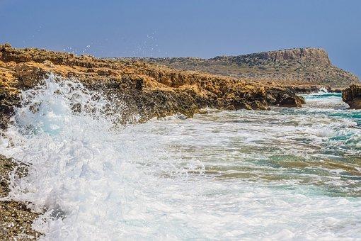 Wave, Smashing, Sea, Coast, Nature, Splash, Wind, Foam