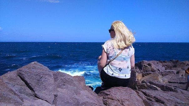 Sea, Girl, Beach