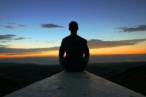 Meditation, View, Sunrise, Sky, Peace, Happy, Yoga
