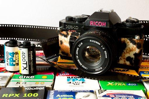 Camera, Analog, Ricoh, Hipster, Fashion, Pink