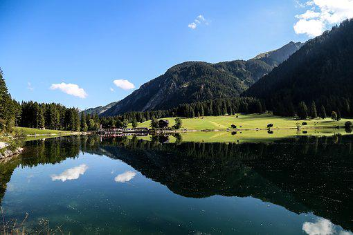 Mountain, Lake, Landscape, Forest, Nature, View, Clouds