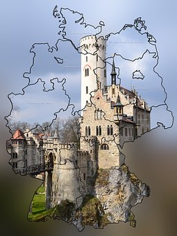 Germany Map, Neuschwanstein Castle, Fairy Castle