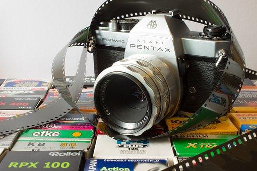 Analog, Camera, Pentax, Old Camera, Photograph