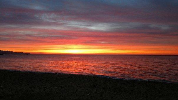 Dawn, Sun, Output Sun, Sunrise Landscape, Sunrise Sea