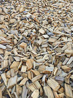 Bark Mulch, Background, Wood Pieces, Texture, Wood