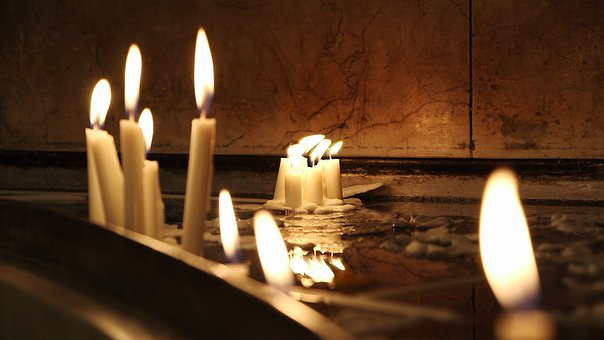 Candles, Dark, Church, Candlelight, Tranquil, Warm