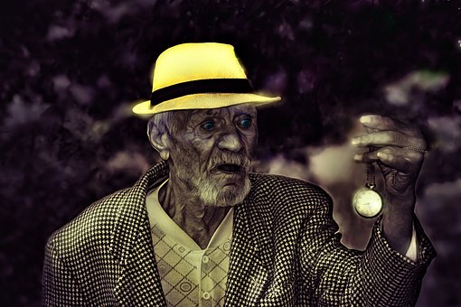 Time, Time Keeper, Old Man, Hour, Figure, Design, Watch