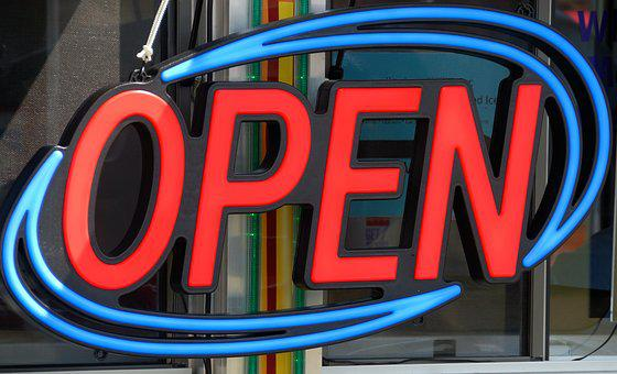 Open Sign, Neon, Bright, Business, Open, Sign, Symbol
