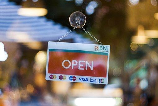 Sign, Open, Open Sign, Business, Store, Door, Window