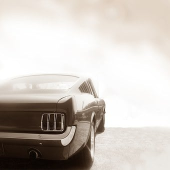 Car, Automotive, Ford, Mustang, Retro, Classic, Chrome