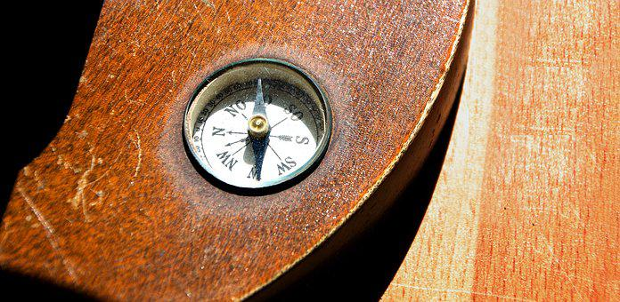 Compass, Magnetic Needle, Windrose, Globe, Antique