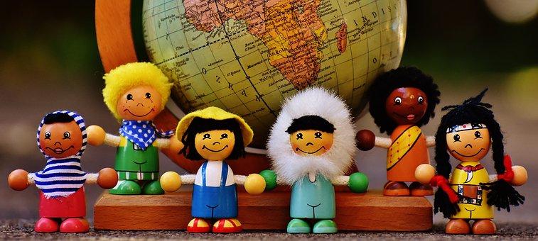 Different Nationalities, Children, Human, Globe