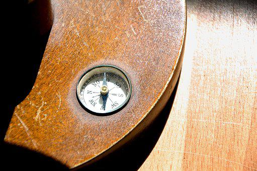 Windrose, Compass, Magnetic Needle, Globe, Antique