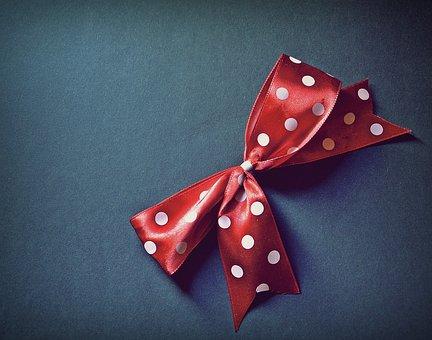 Bow, Polka Dots, Red