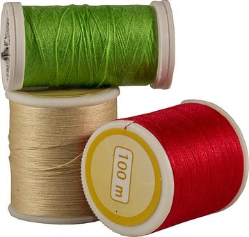 Thread, Thread Spools, Roll, Line, Sewing, Material