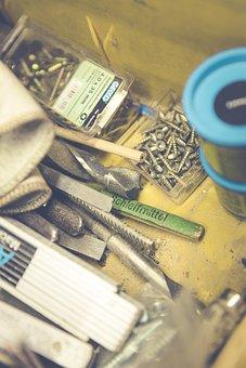 Tool, Meter, Scale, Screw, Tool Box, Pencil, Hammer