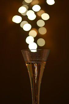 Cheers, Feast Day, Champagne, Bokeh, Prost, Drink, Abut
