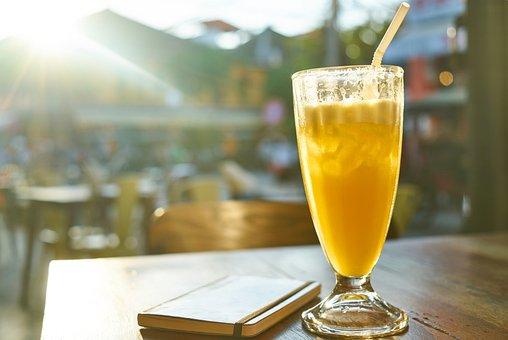 Fruit Juice, Orange Juice, Health, Fresh, Glass, Cafe