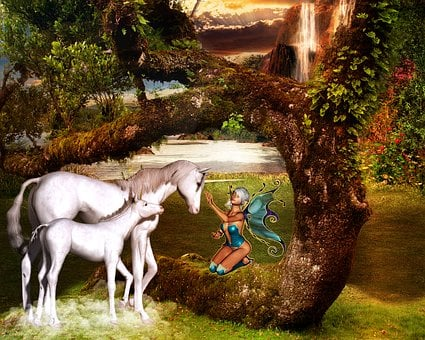 Fantasy, Unicorn, Fee, Fairy Tales, Mystical, Horse