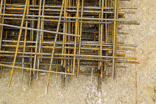 Iron, Iron Rods, Iron Railings, Concrete, Bonn, Steel